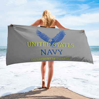 US Navy Travel Beach Towel