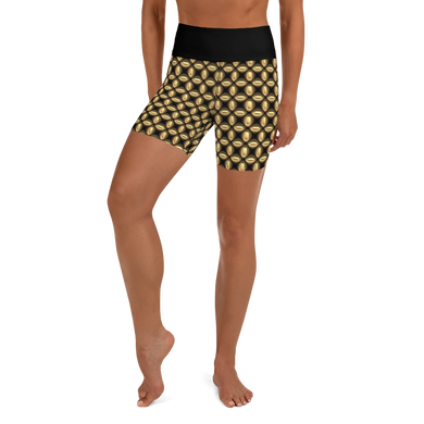 Jersey Shore Golden Global Yoga Shorts