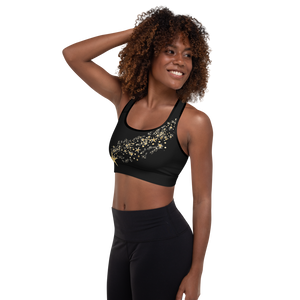 Starry Ice Skaters Padded Sports Bra