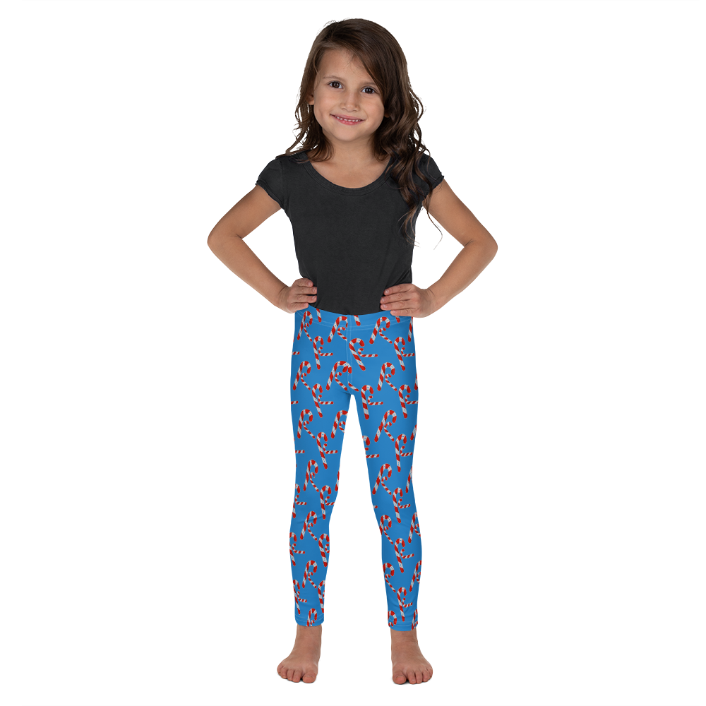 All over printed Candy Cane Kid's Leggings