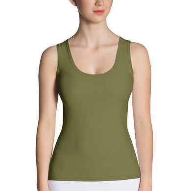 USAF Olive Green Sublimation Cut & Sew Tank Top