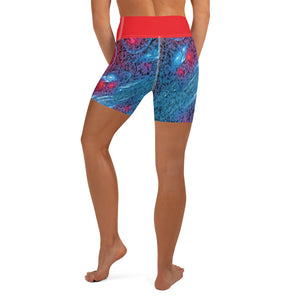 All Over Printed Activewear Yoga Shorts