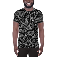 Load image into Gallery viewer, Chessie Paisley  Over Print Men's Athletic T-shirt