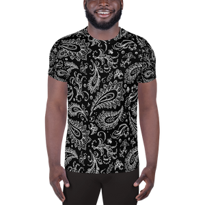Chessie Paisley  Over Print Men's Athletic T-shirt