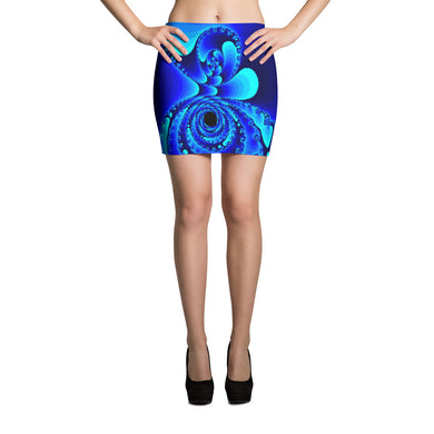 GEO 15 Blue Ocean Mini Skirt