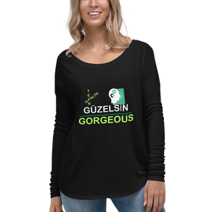 GÜZELSİN Turkish Teen Mental Health Shirts Ladies' Long Sleeve Tee