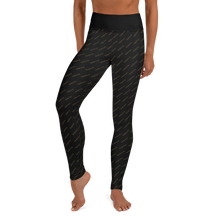 Load image into Gallery viewer, Chessie Black and Gold Yoga Leggings