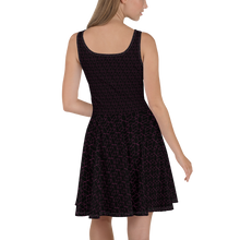 Load image into Gallery viewer, 3D Pink Black Skater Dress