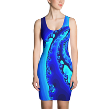 Load image into Gallery viewer, GEO 965 Ocean Blue Symmetrical dress