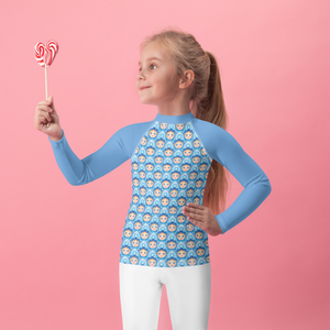 All over printed Russian Doll Kids Rash Guard