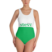 Load image into Gallery viewer, White and Green All over printed Swimwear