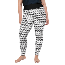 Load image into Gallery viewer, Black White Doggy print All-Over Print Plus Size Leggings