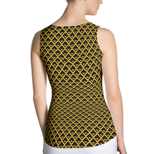 Load image into Gallery viewer, Black Yellow Tank Top