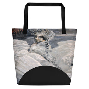 TOTE 426 Russian Swan Princess Travelers Tote Beach Bag