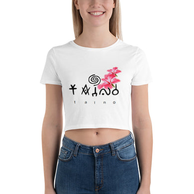 Lady Taino Tribal Women's Crop Tee
