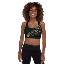 Load image into Gallery viewer, Starry Ice Skaters Padded Sports Bra