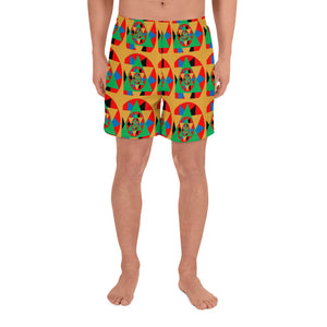 All Over Printed Men's Athletic Long Shorts