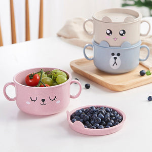 Cute Baby Cartoon Bamboo Dishes