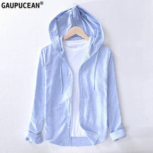 Load image into Gallery viewer, 55% Linen 45% Cotton Anti-static Breathable hooded