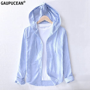 55% Linen 45% Cotton Anti-static Breathable hooded
