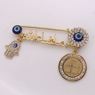 Turkish evil eye Stainless Steel Pin brooch Baby Pin