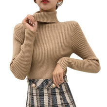Load image into Gallery viewer, Autumn Fall Women Sweater Slim Soft Long Sleeve High