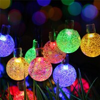 20 LED Colorful Solar String Lights Outdoor Waterproof