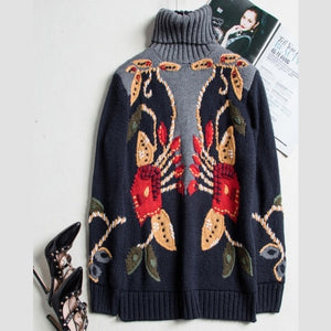 Luxury Runway Designer Wool Sweater