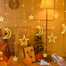 Load image into Gallery viewer, 3.5M 220V LED Moon Star Lamp Christmas Garland String lights