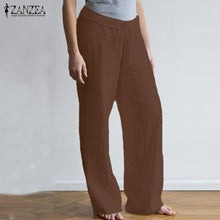 Load image into Gallery viewer, Casual Linen Pants Women's Wide Leg Trousers