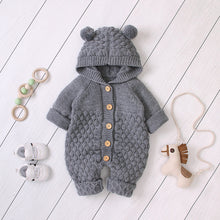 Load image into Gallery viewer, Knitted autumn Newborn Boys Overall
