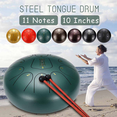 10 Inch 11 Notes D Major Steel Tongue Drum Hand pan