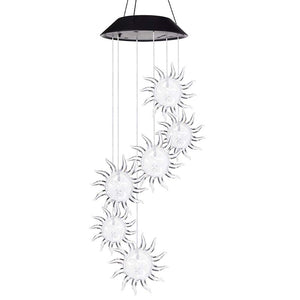 ABUI-Wind Chime,Solar Lights Chimes Outdoor wind Chime