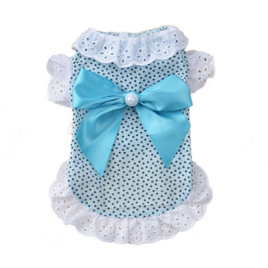 Cute Lace Pet Cat Shirt Clothes Spring and Summer Kitten