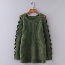 Load image into Gallery viewer, Knitted Sweater Women's Round Neck