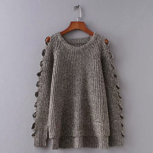 Knitted Sweater Women's Round Neck