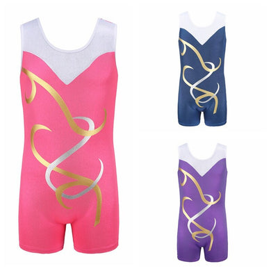 Gymnastics Dancesuit Girls Sleeveless