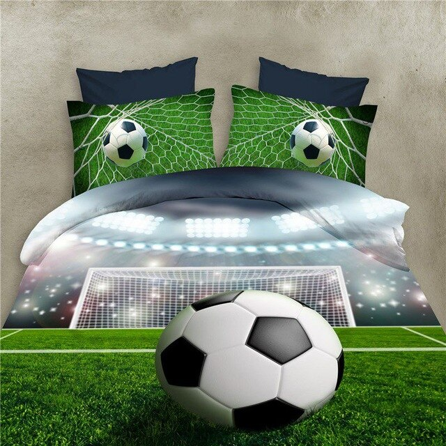 Football Bed Sheets 3D Bedding Sets Quilt Duvet Cover Bed in A Leaf Of Bag Spread BedsPread Bedset Pillowcase Queen Size Double