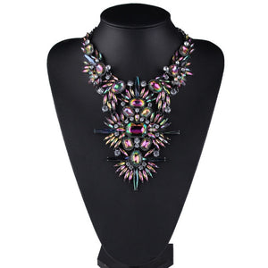 Brand Rhinestone Multicolored  Good Quality Chunky Collar Women Choker
