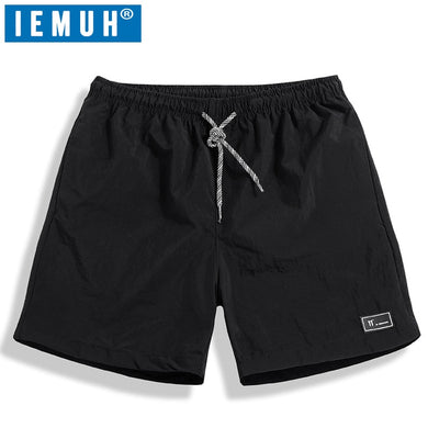 IEMUH New Mens Swim Shorts Swimwear Trunks Beach Board Shorts Swimming Short Pants Swimsuits Mens Running Sports Surffing shorts