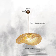 Load image into Gallery viewer, Bamboo Lantern Tea Room pendant light Lamp