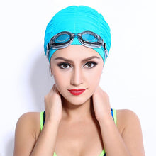 Load image into Gallery viewer, Women Sports Swimming Caps Stretch Elastic Swim Pool Hat Swimming Cap High Quality Nylon Bathing Hats Caps For Men Women Adults