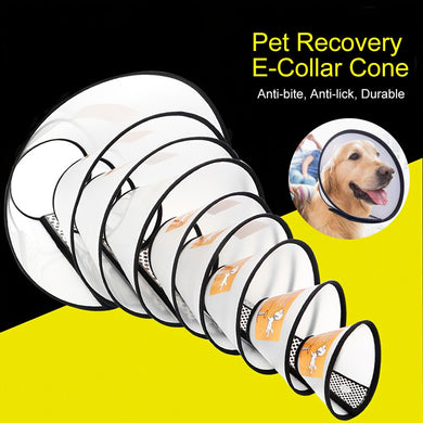Protective Dog Collar Oxford Cloth Pet Protective Collar Dog Neck Cone Recovery Wound Healing Protection Cone Breathable Collar
