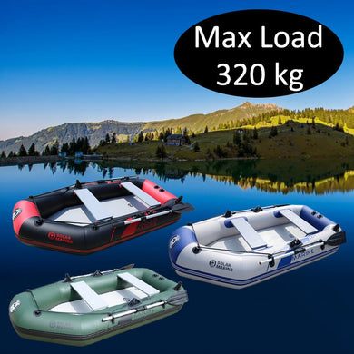 3 Person 230cm PVC Inflatable Rowing Boat Fishing Kayak Canoe
