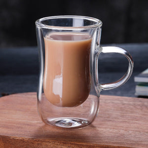 80Ml European Double Coffee Mug Heat-Resistant Double Glass