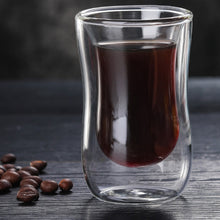 Load image into Gallery viewer, 80Ml European Double Coffee Mug Heat-Resistant Double Glass