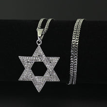 Load image into Gallery viewer, Crystal Star Hexagram Magen David Chain