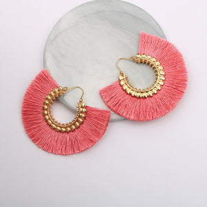 Trendy Salazaran Bright Dazzling Tassel Drop Earrings