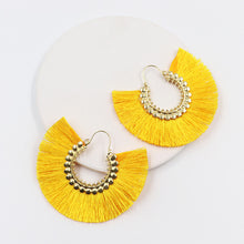 Load image into Gallery viewer, Trendy Salazaran Bright Dazzling Tassel Drop Earrings