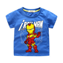 Load image into Gallery viewer, Summer Boys T-shirt Avengers Marvel Superhero Iron Man Thor Hulk Children's Cartoon Raytheon T-shirt Adolescent Casual Top Baby